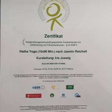 Präventionskurs Hatha-Yoga